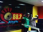 Derrick at Sanyu FM, Kampala
